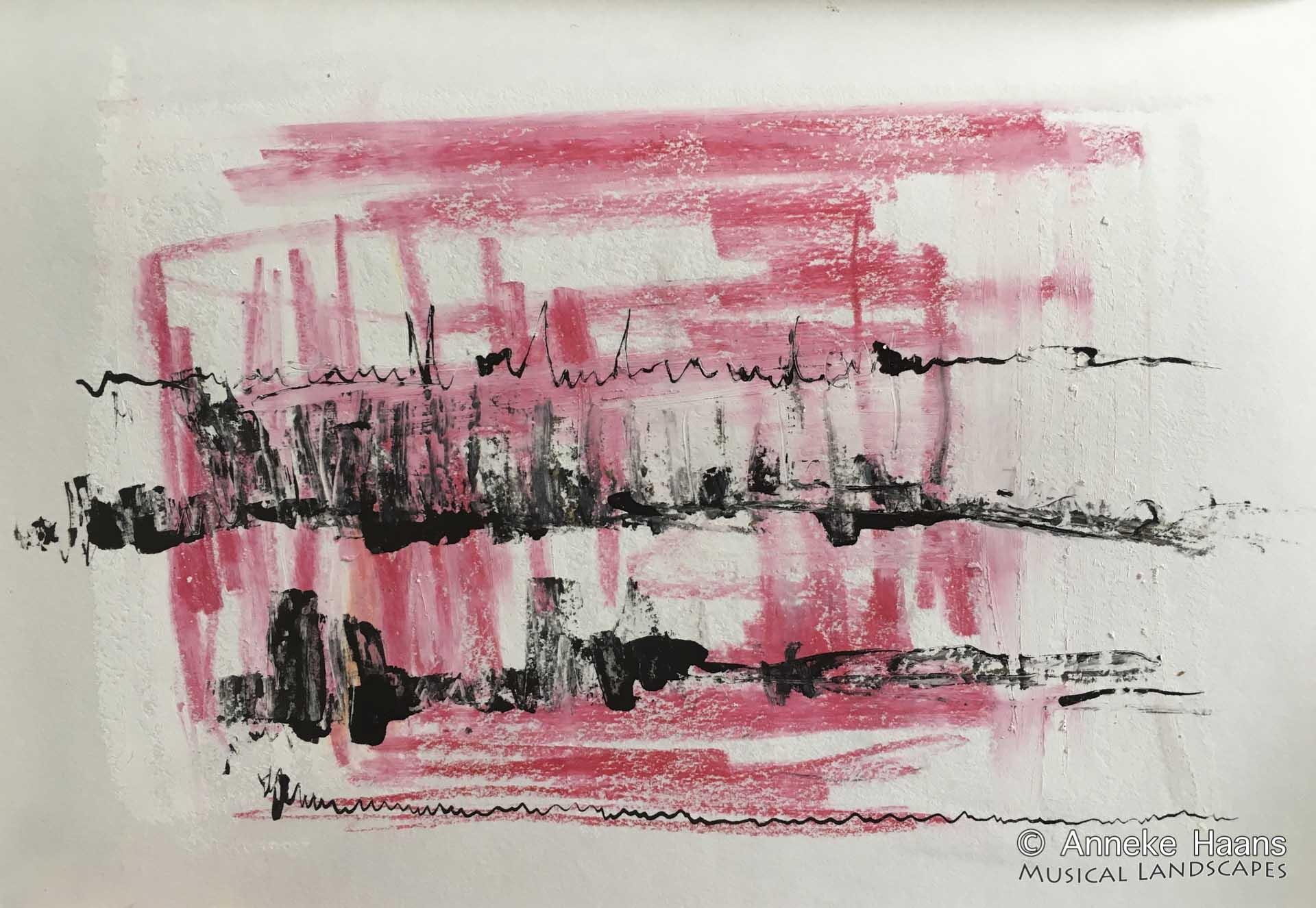 Christian Wallumrød Ensemble 5 |  Oost-indische inkt, bijenwaskrijt op papier | 21 x 14,5 cm