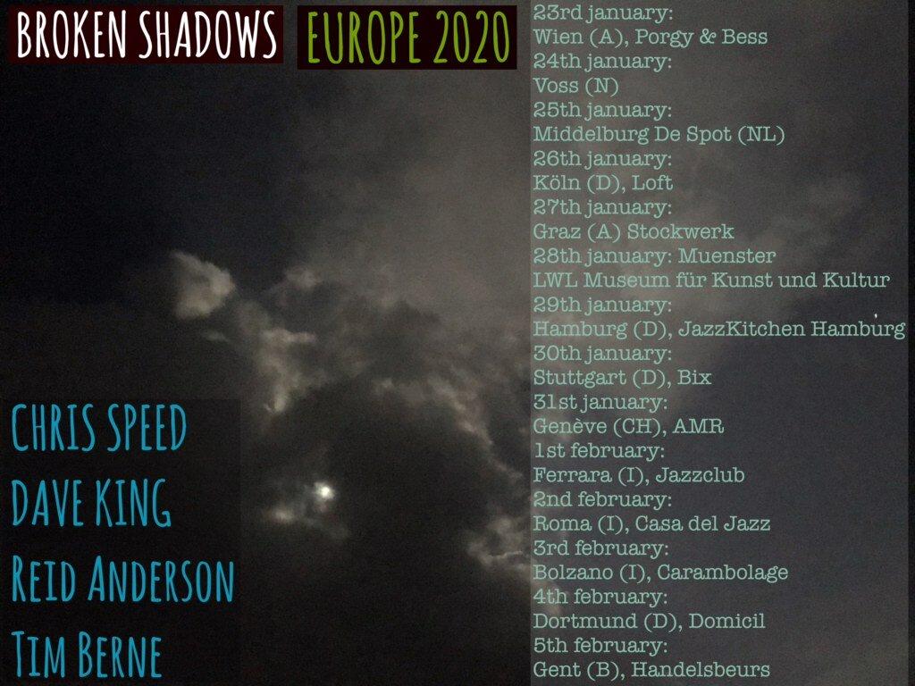 Broken Shadows Tour eindigt 5 februari 2020 in Handelsbeurs Gent