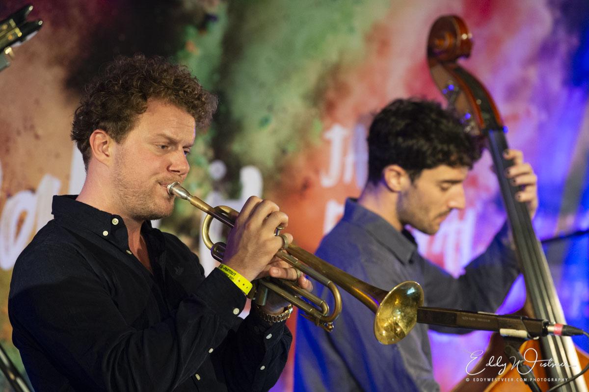 Trompettist Koen Smits en bassisit Allessandro Fongaro